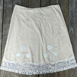 Anthropologie Odille embroidered lace skirt 4